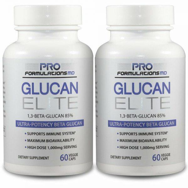 Glucan Elite - 1,3D Beta Glucan 85% - 2 bottles