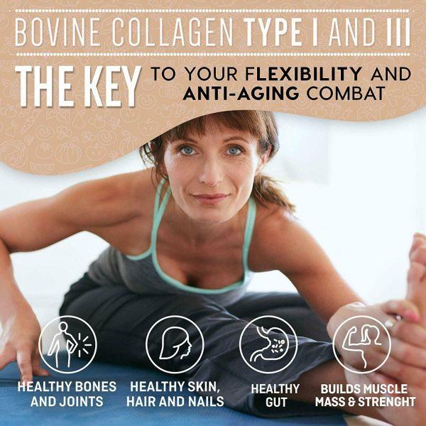 Collagen Peptides Powder for Women Hydrolyzed Collagen Powder Types I, III  1