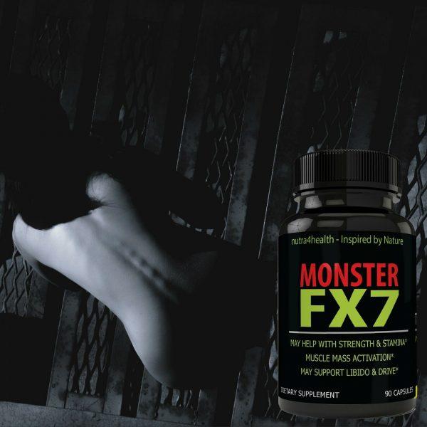 Monster FX7 Male Enhancement 4 Bottle Pack Supplement Advanced Enhancing Pills 9