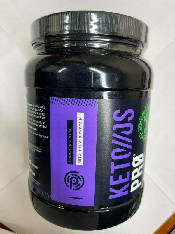 Pruvit Keto OS PRO + MCT CHOCOLATE SWIRL KETONES Sealed 30 Servings Exp 10/22  1