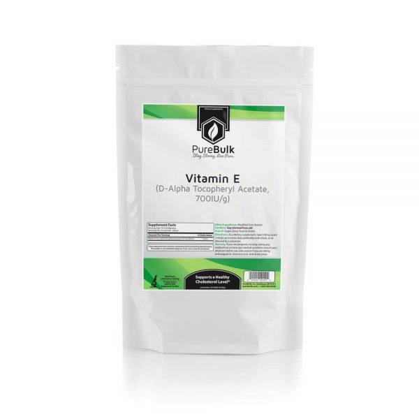 Vitamin E Powder D-Alpha Tocopheryl Acetate Lab Tested PureBulk (Variations)
