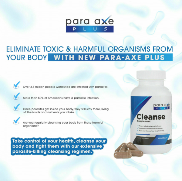 3 Pack- Para-Axe Plus Cleanse Eliminate Toxic & Harmful Organisms From Your Body 1