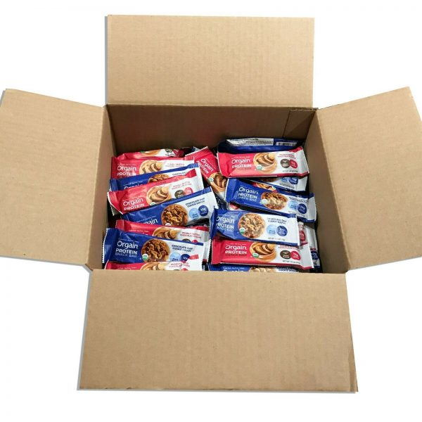 144 Orgain Protein Snack Bar Organic 1.41oz Plant Based Gluten Free Best By 4/21