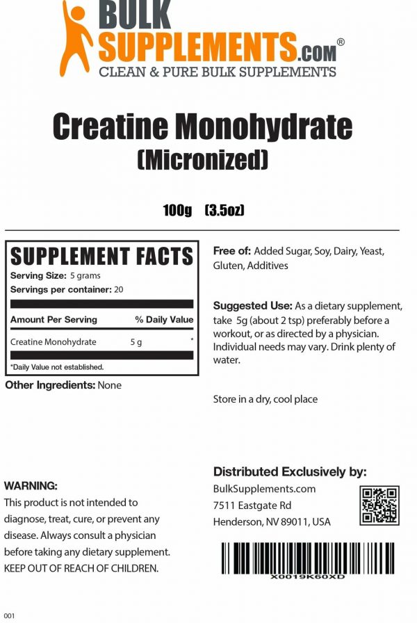 BulkSupplements.com Creatine Monohydrate (Micronized) 1