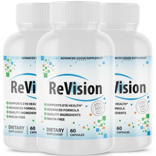 (3 Pack) Revision Advanced Vision Supplement Pill Supports Eye Health