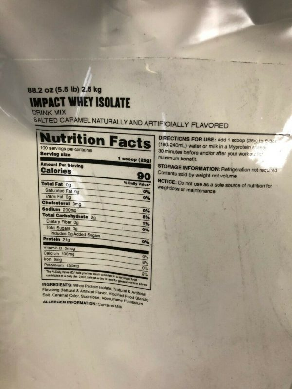 Pack of 2 - Myprotein Impact Whey Isolate Protein Powder, Salted Caramel 5.5 Lb 3