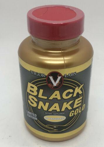 Vigor Labs Black Snake Gold Supplement 30 caps **NEW SEALED** Exp 8/2023