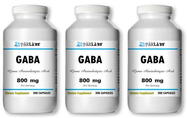 GABA Gama Aminobutyric Acid 800mg 1/2/3 Bottles 200/400/600 Capsules FREE SHIP