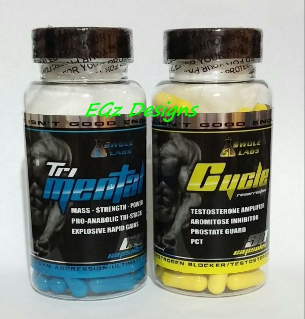 SWOLE LABS * TRI-MENTAL & CYCLE RESURRECTION PCT - EXTREME 2 PACK COMBO!!