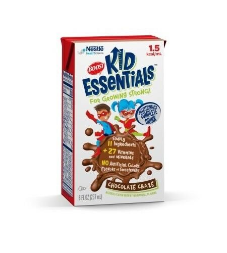 Boost Kid Essentials 1.5 Cal, Chocolate Craze, 8 Ounce, by Nestle - Case of 27