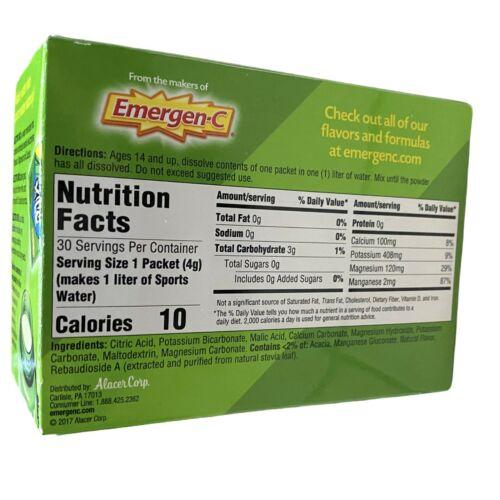 Emergen-C Electro Mix Lemon-Lime 30 Packets 0.14 oz ea Gluten-Free EXP: 08/2021 2