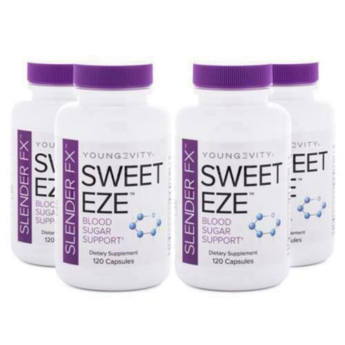 Youngevity Slender Fx Sweet Eze 120 capsules 4 Pack Dr. Wallach