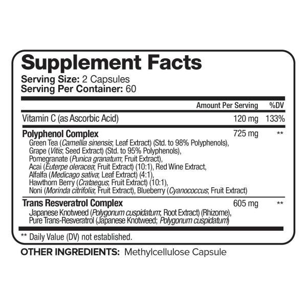 Nutrivein Resveratrol 1450mg - 120 Capsules - Anti-Aging Antioxidant Supplement 2