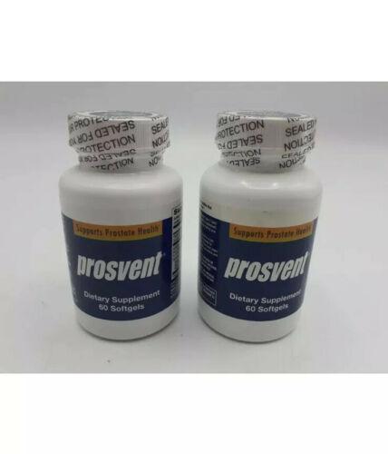 (LOT OF 2) Prosvent  Natural Prostate Health Supplement for Men, 60 Gels Exp8-23