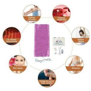 110V Far Infrared Sauna Heating Blanket Body Shape Slimming Fitness Machine Purp