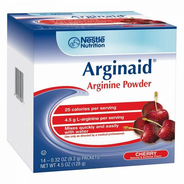 Nestle Arginaid Arginine Powder Cherry 0.32 oz Packet 56 Ct