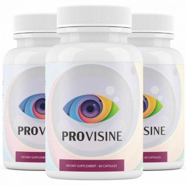 3 Bottles Provisine - Vision Support 60 Capsules x3