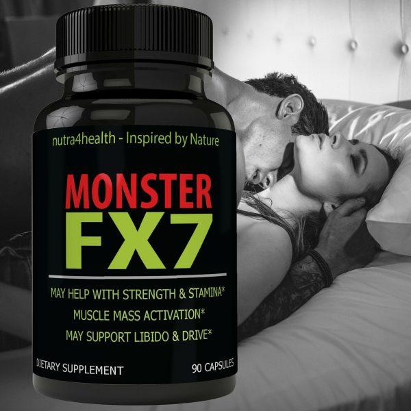 Monster FX7 Male Enhancement 4 Bottle Pack Supplement Advanced Enhancing Pills 1