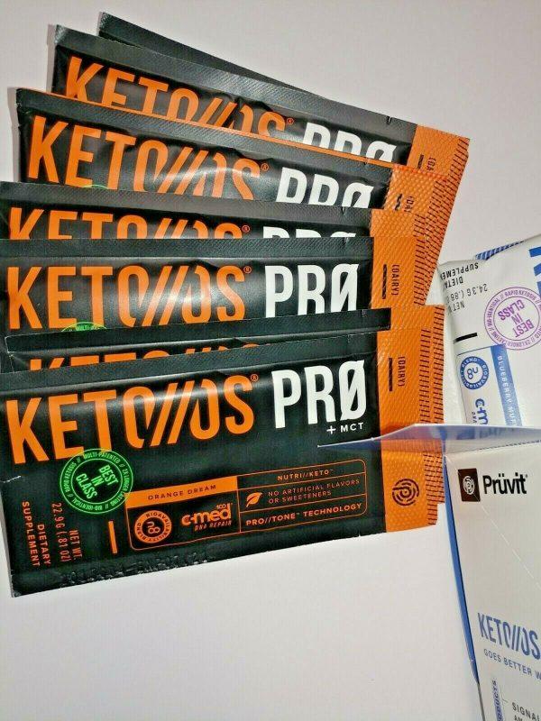PRUVIT KETO//OS PRO +MCT BLUEBERRY MUFFIN (12) & ORANGE DREAM (7) 1