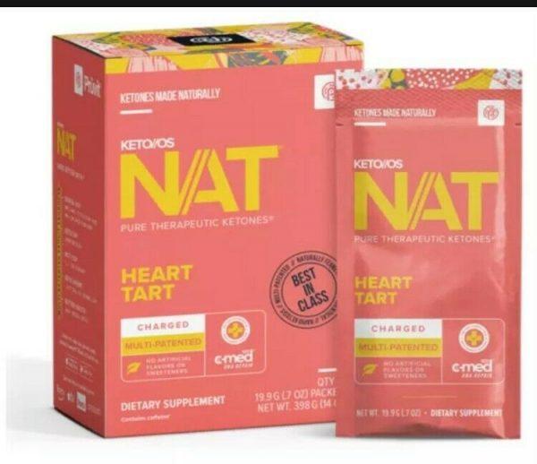 Pruvit KETO OS NAT -Heart Tart (20) Sealed Box, Plus ** (1) FREE Sno Cone**** 1
