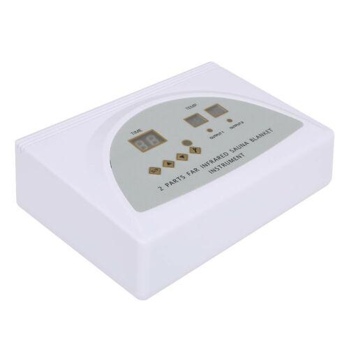 Digital 2 Zone Far Infrared FIR Sauna Slimming Blanket Weight Lose Spa Detox 11