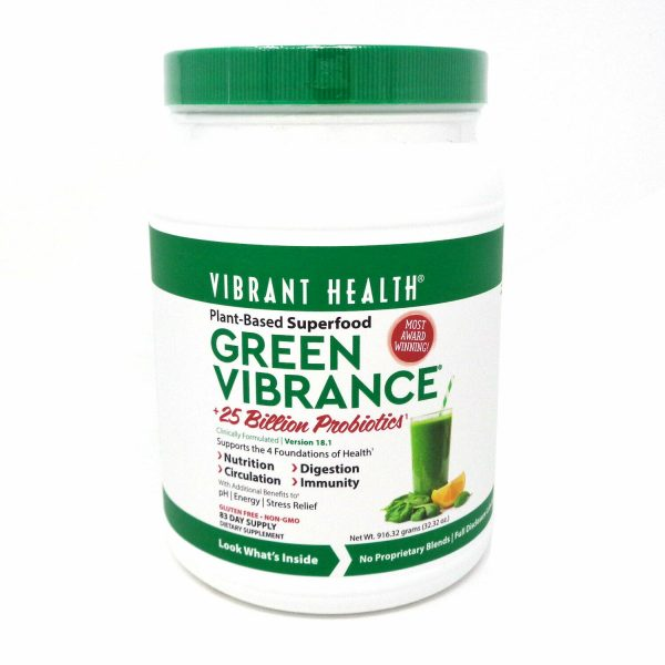 Vibrant Health Green Vibrance Plant Based Superfood - 916 Grams (Approximately)