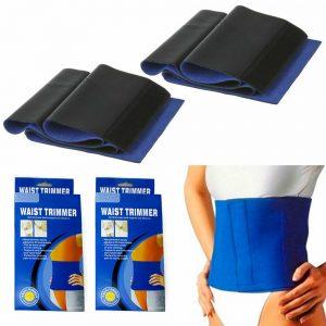 2 Pc Sweat Waist Trimmer Wrap Slimming Fat Burn Weight Loss Hot Body Womens Mens