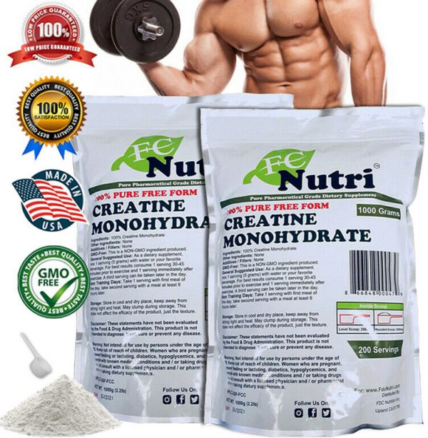 BUNDLE MICRONIZED CREATINE Monohydrate Powder Supplement Bundle Pack