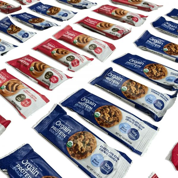 144 Orgain Protein Snack Bar Organic 1.41oz Plant Based Gluten Free Best By 4/21 1