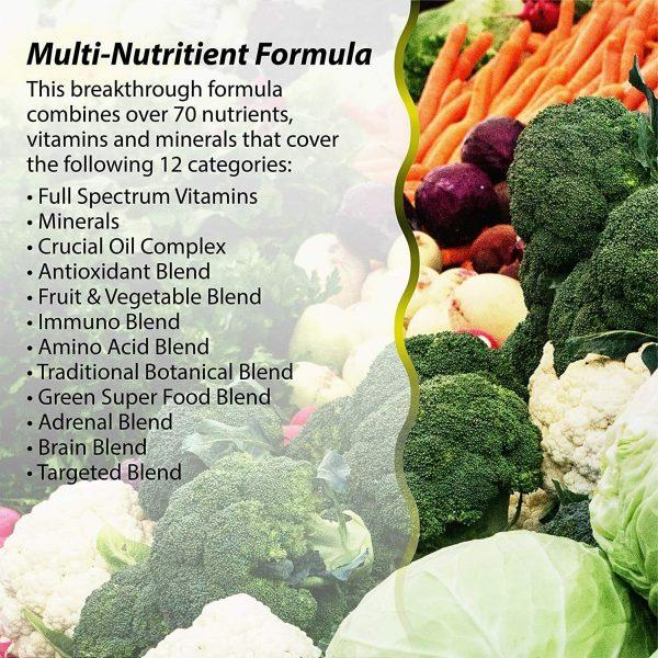 Irwin Naturals Men's Living Green Liquid-Gel Multi - 70 Essential Nutrients, - 3
