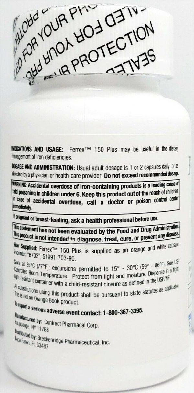 Ferrex 150 Plus Bottle 90 count -Expiration Date 10-2022 1