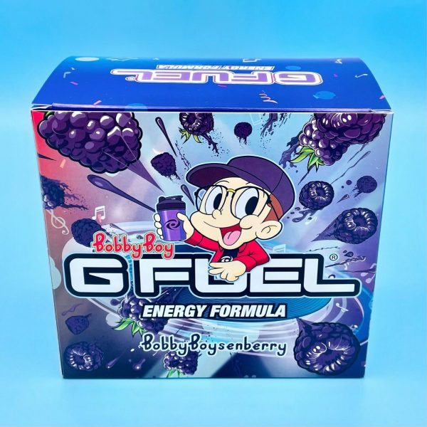G Fuel Logic Bobby Boysenberry Collector's Box Tub + Shaker Cup Energy Formula 1