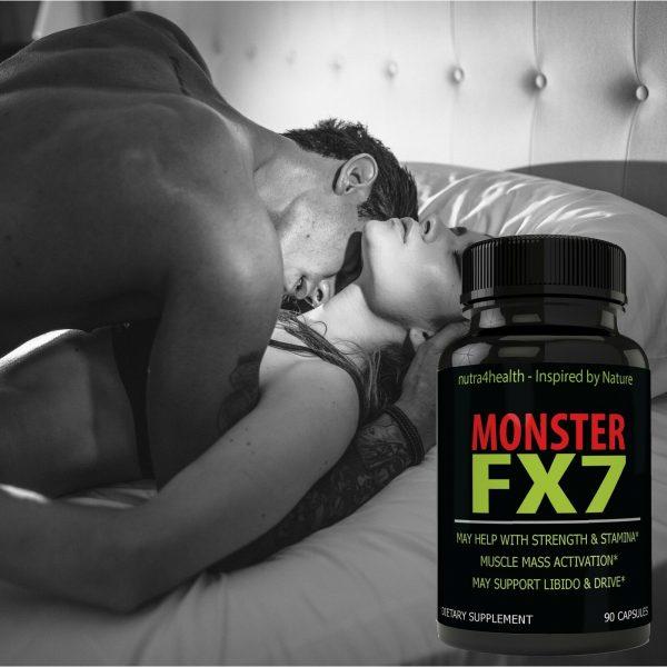 Monster FX7 Male Enhancement 4 Bottle Pack Supplement Advanced Enhancing Pills 7