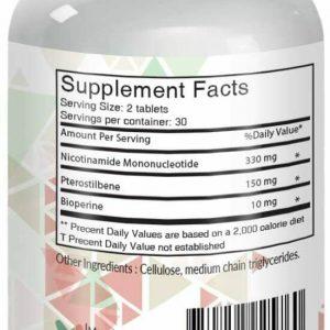 (NMN) Nicotinamide Mononucleotide 330mg's + 150mg's Pterostilbene + 10mg's... 1