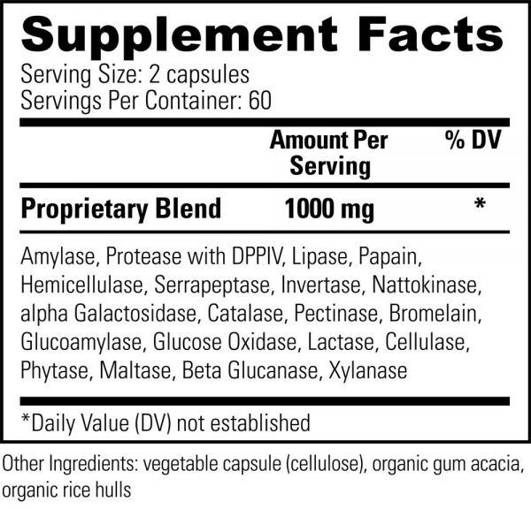Veganzyme Natural Systemic & Digestive Enzymes Supplement - Vegan Safe (2-Pack) 2