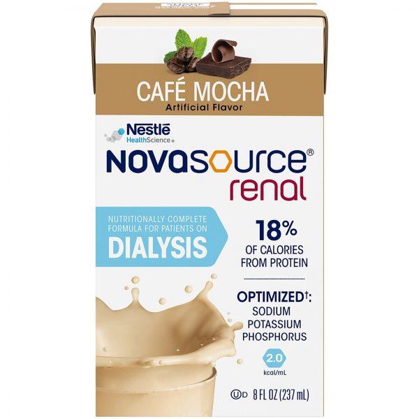 Nestle Novasource Renal Nutritionally Complete Formula Mocha 8 oz Carton 27 Ct