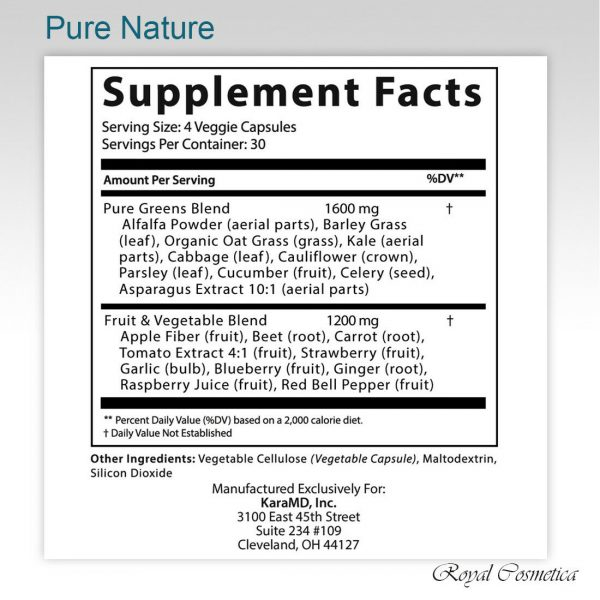 KaraMD Pure Nature Greens Fruit Vegetable Antioxidant Superfood Immunity Boost 3