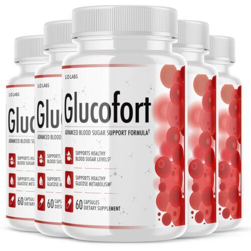 Glucofort Advanced All-Natural Blood Sugar Support Formula - 5 Pack