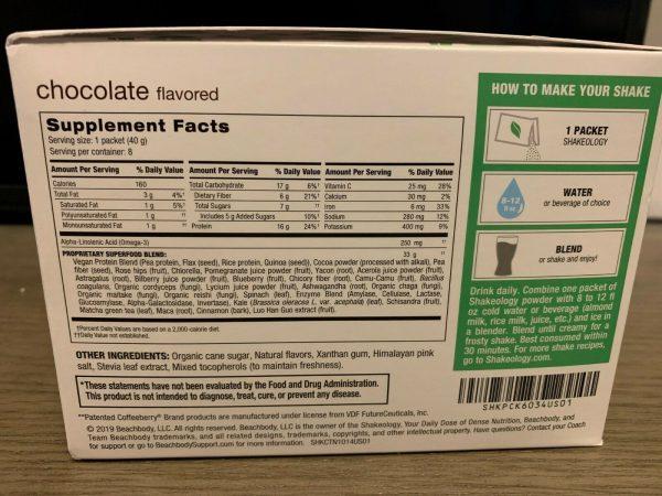 Shakeology Plant Based Vegan 24 Packets Chocolate,Vanilla and Café Latte SEALED 3