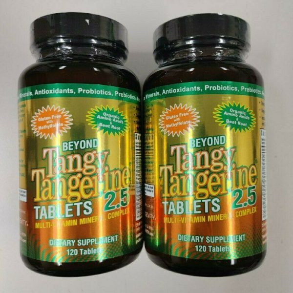 Youngevity Dr. Wallach Beyond Tangy Tangerine BTT 2.5 Tablets Twin Pack