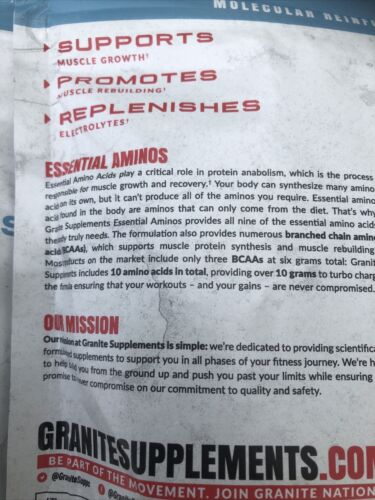 Granite® Essential Amino Acids + BCAA, Strawberry Lemonade, 2-Pack, 15.4oz Each 3