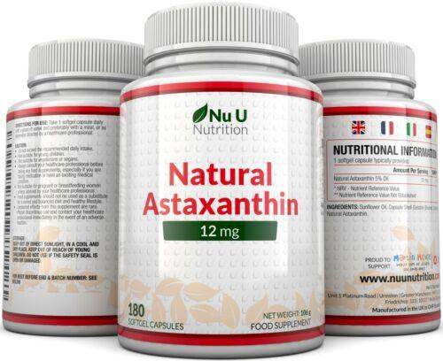 Astaxanthin 12mg - 4 x 180 Softgels (6 Month Supply) High Strength astaxanthin 7