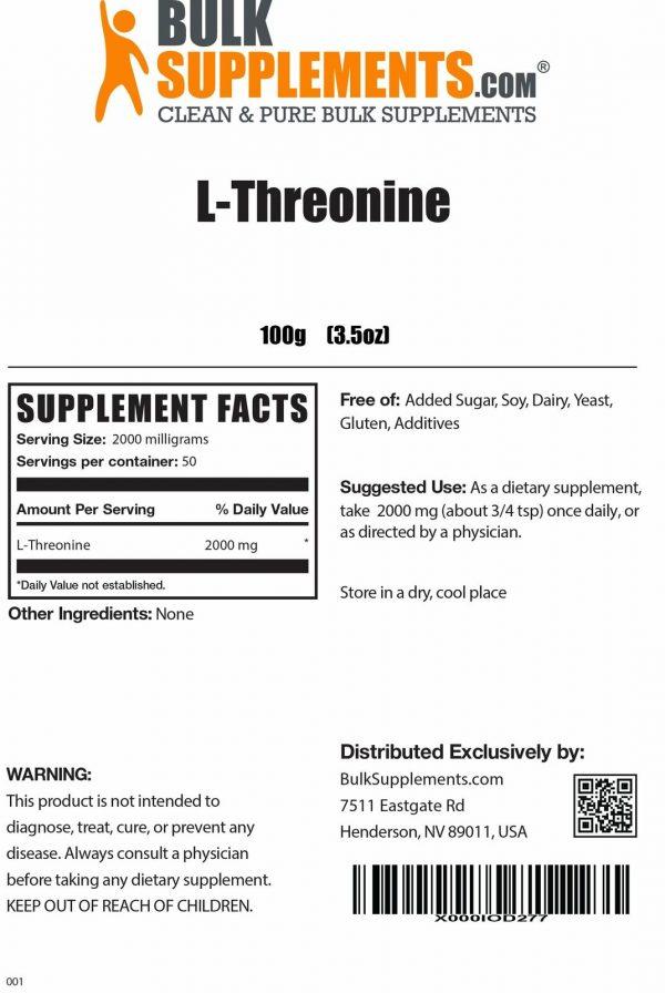 BulkSupplements.com L-Threonine 1