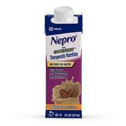Abbott Nepro Carb Steady Butter Pecan 8 oz resealable 24 pk case