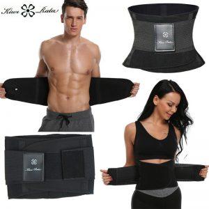 Men Women Waist Trainer Trimmer Sauna Sweat Belt Slimming Body Shaper Fat Burner