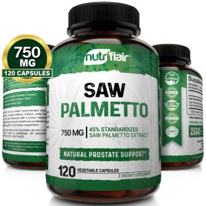 Saw Palmetto Berry Extract 750mg, 120 Capsules Natural Prostate Supplement Pills