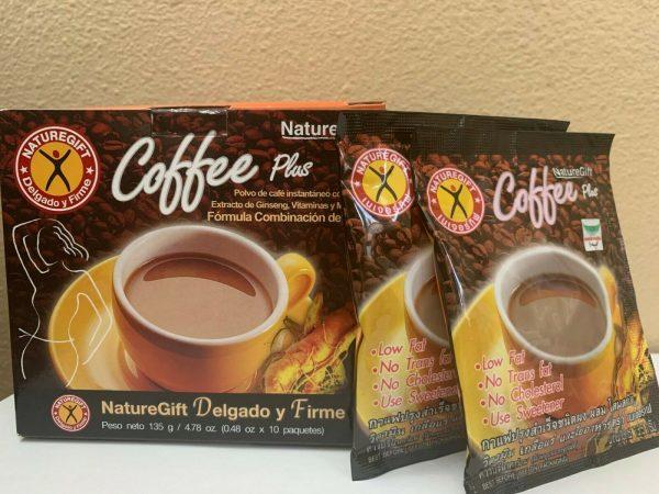 NatureGift COFFEE PLUS INSTANT coffee powder w/Fiber Ginseng, Vitamins 10bag/Box 1