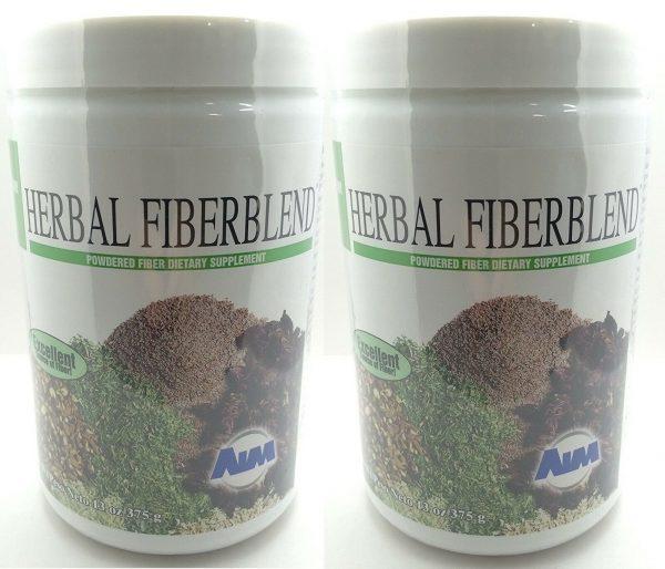 AIM Herbal Fiberblend Unflavored Powder, 13 Oz (375 g) - 2 Pack