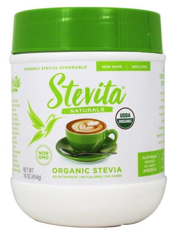4 x STEVITA Stevita Spoonable Stevia-Economy Size 16 OZ (1 lb) 454 grams NOW