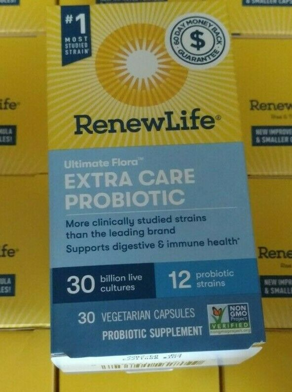 Renew Life Ultimate Flora Extra Care Probiotic 30 Billion Cultures 30 Ct 09/2022